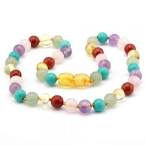 amber teething necklace gemstones