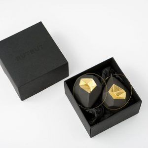 black porcelain baubles