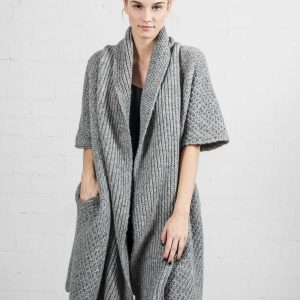 tessoro coat sweater gray